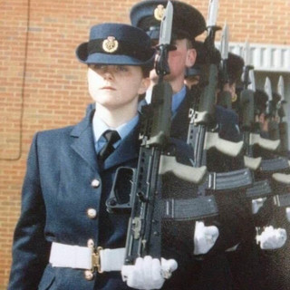 Passing out from RAF Halton in February 2006