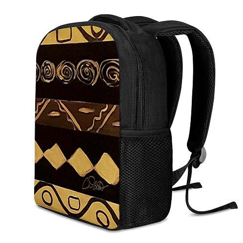 Black and Gold 12 Inch Toddler Felt Backpack