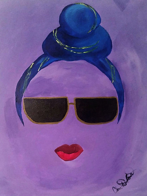 PRINT: Pretty Eccentric (Purple)