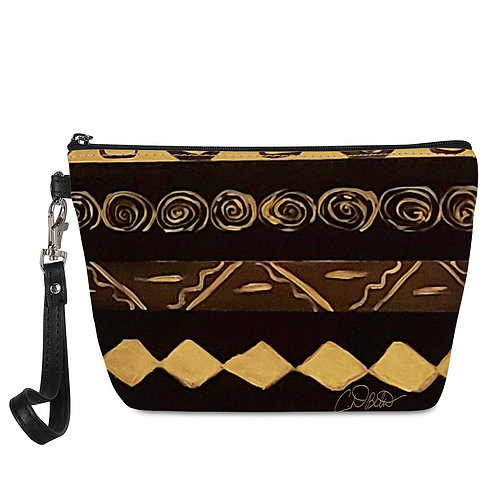 Black and Gold Sling Cosmetic Bags
