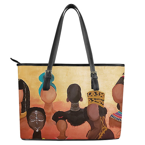Queen Me Leather Tote Bags
