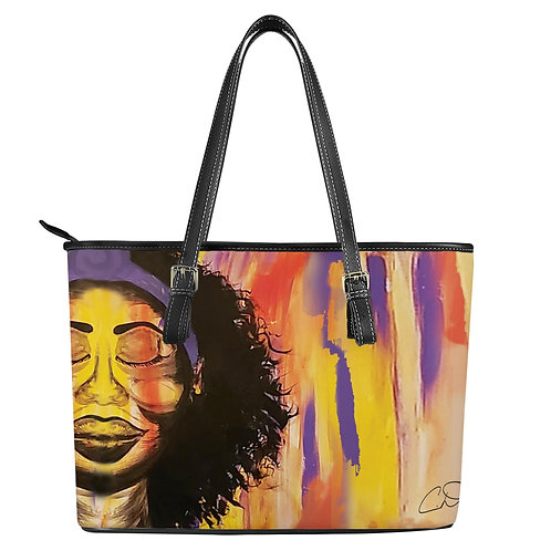 Her Own Peace Leather Tote Bags