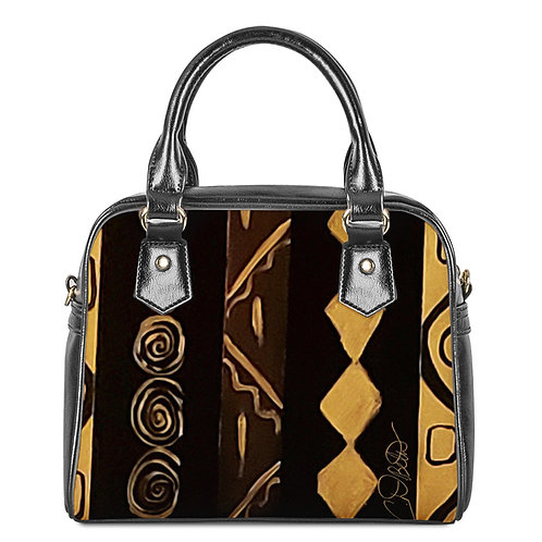 Black and Gold Shoulder Handbags