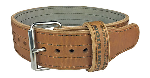 Dominion 3in Leather Weightlifting Belt Single Prong for Men and Women