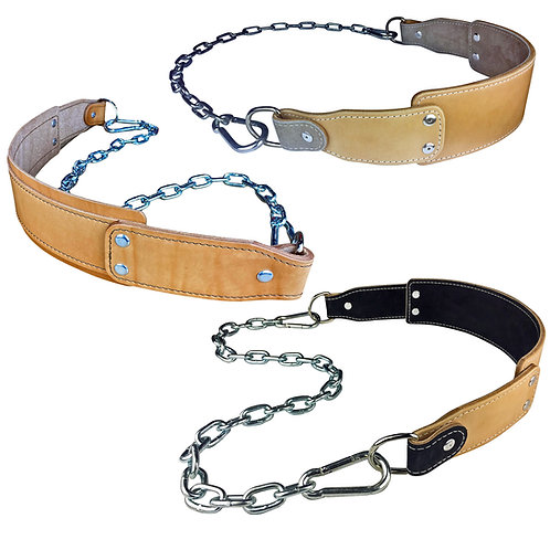 Leather Dip Belt with Chain - For Weighted Pullups and Dips