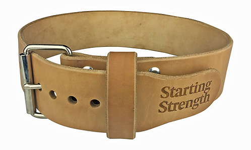 Starting Strength 3in Single Ply Leather Weightlifting Belt