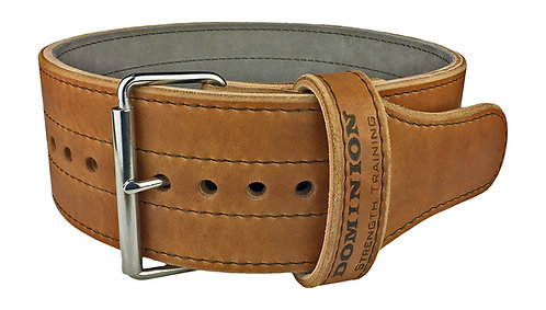 Dominion 4in Leather Weightlifting Belt Single Prong for Men and Women