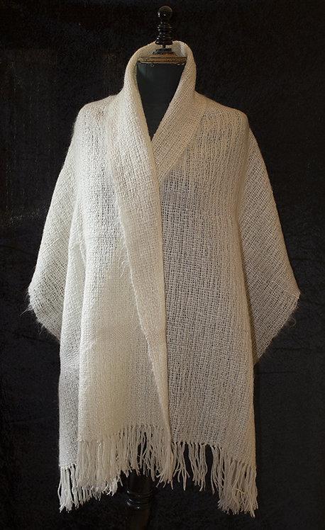 Châle en Mohair, soie, laines d'alpaga et mouton - tissé main
