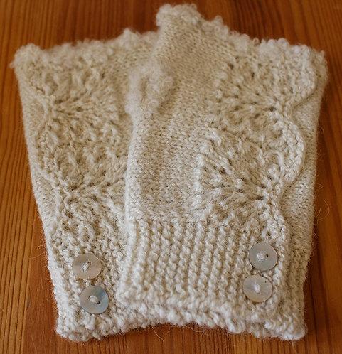 Manchettes tricotées main