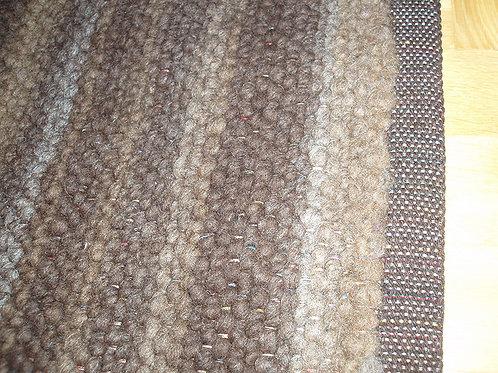 Tapis - Mélange de teintes naturelles brunes