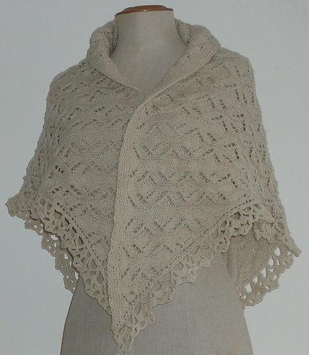 Châle tricoté main