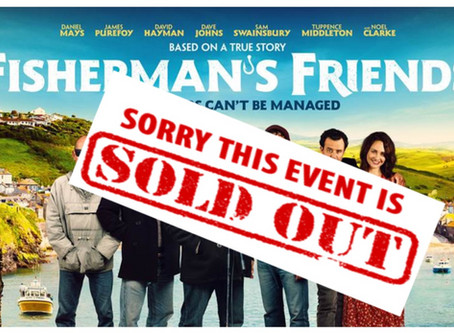 All sold out for first film of the Autumn at Neston Flicks Saturday 28th Sep