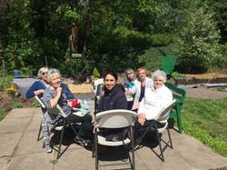 Befrienders Lunch in the NCYC garden
