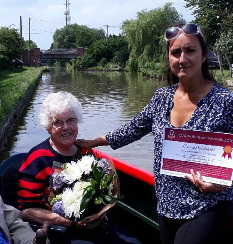 We also go to celebrate Irene's shortlisting for Chester Voluntary Action's Older Volunteer Award.