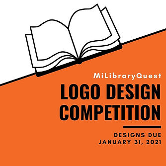MiLibraryQuest logo contest designs due January 31, 2021