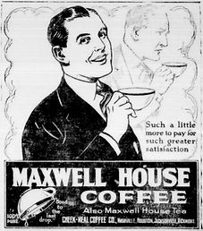 Old advertisement for Maxwell Coffee