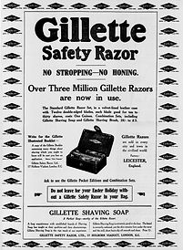 Old advertisement for Gillette Safety Razors
