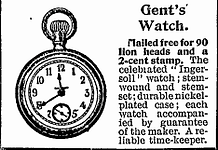 Old advertisement for Gent's watch