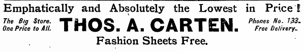 Old advertisement for fashion sheets