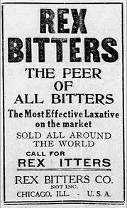 Old advertisement for Rex Bitters