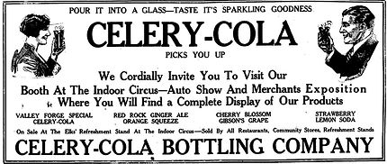 Old advertisement for celery-cola