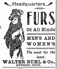 Old Advertisement for Walter Buhl Furs