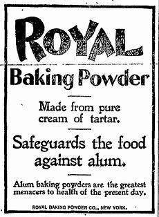 Old advertisement for Royal Baking Powder
