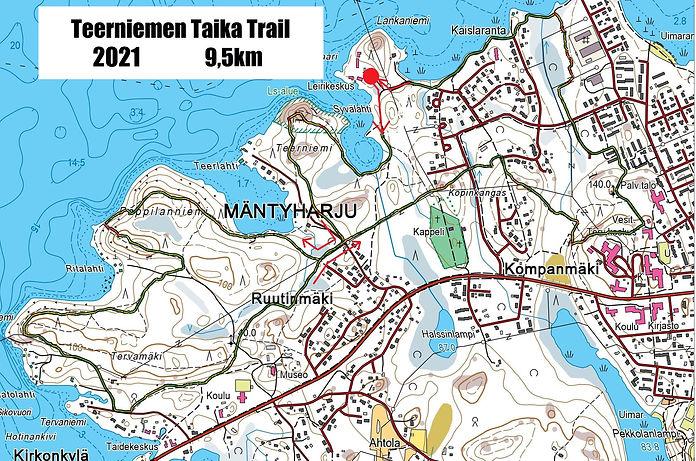 Teerniemen Taika Trail - kartta