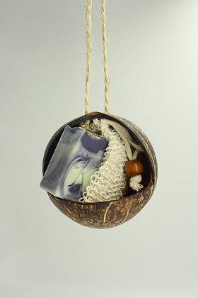 Cocon coco + savon au choix + pochette exfoliante