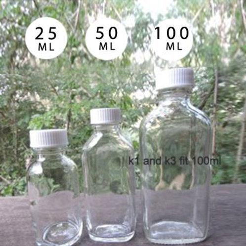 GLASS BOTTLE- CLEAR