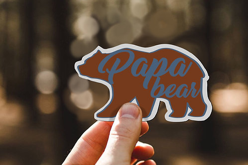 Papa Bear Decal, Gift for Dad, Vinyl Sticker, Grandpa Gift, Fathers Day