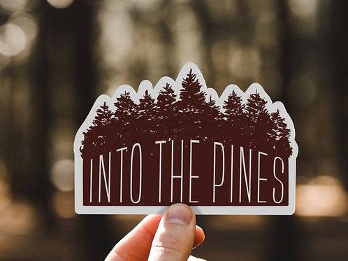 Into the Pines, Vinyl Sticker