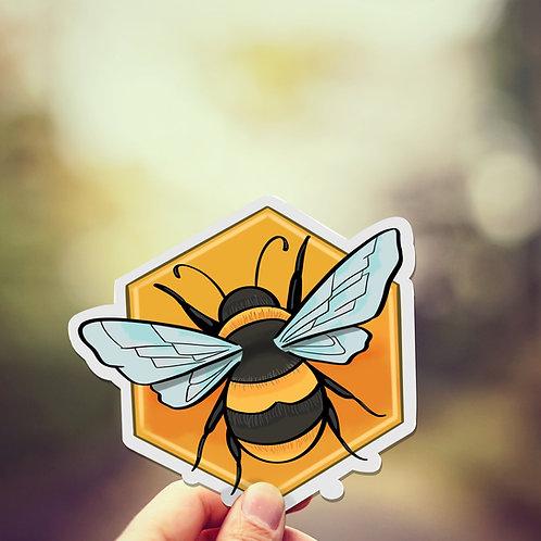 Honeybee Decal, Cute Bee, Vinyl Sticker