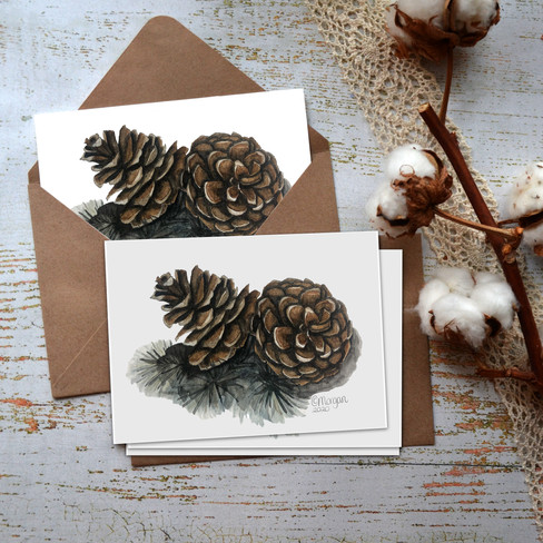 Pinecones Notecards