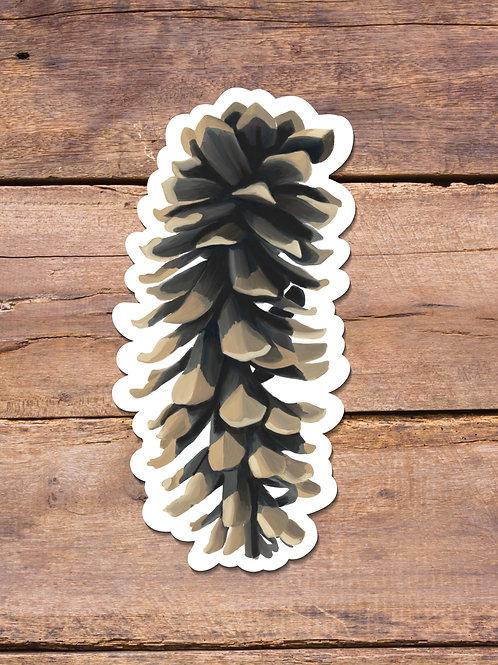 Pinecone, White Pine, Vinyl Sticker