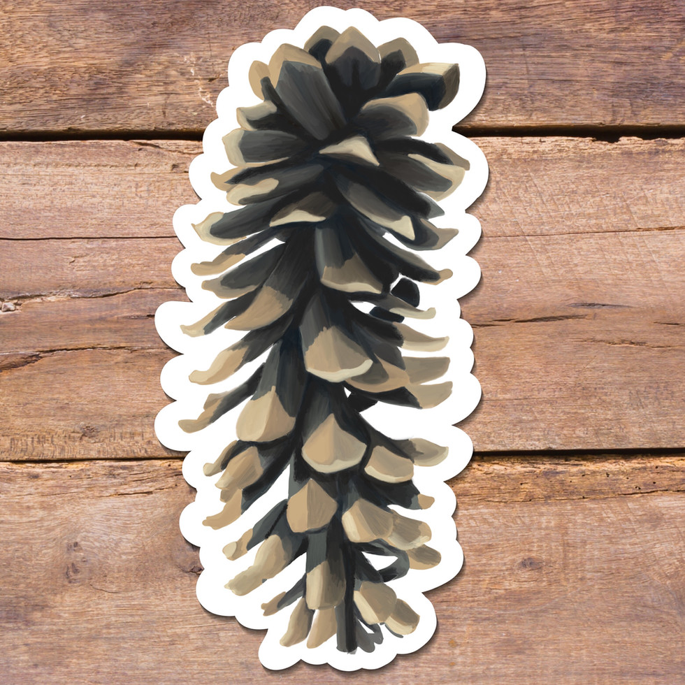 Pinecone Sticker
