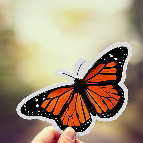 Butterfly Decal, Monarch, Vinyl Sticker