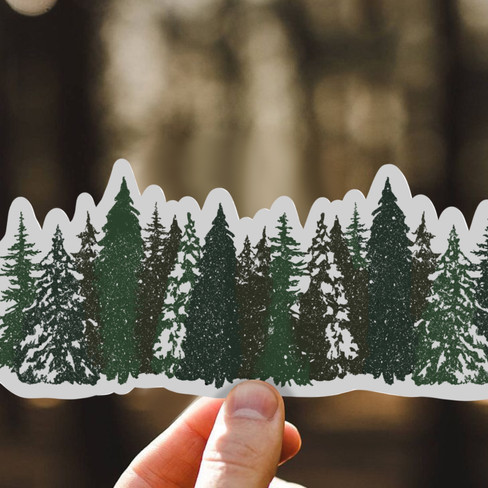 Row of Pines Sticker