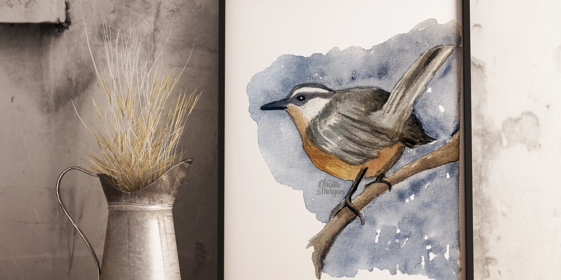 Watercolor Nuthatch