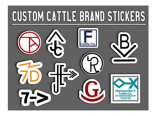 Custom Brand Sticker, Cattle Branding, Ranch Decal for Water Bottle, Hydroflask