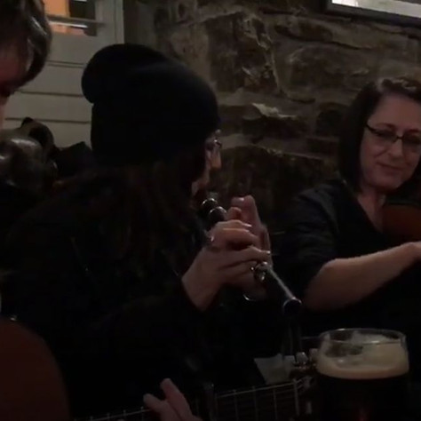 Peter Gallagher, Fionnghuala Leahy, Andi Leahy and Yvonne Casey. Cornerstone Bar, Lahinch, Ireland 2018