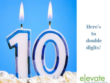 Elevate is Celebrating a Double Digits Birthday!