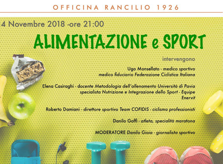 "OR Events - ""Alimentazione & Sport"""