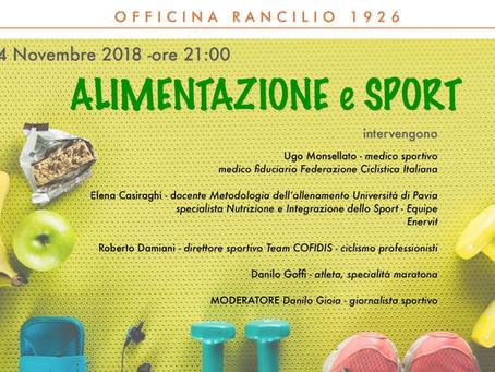 """OR Events - """"Alimentazione & Sport"""""""