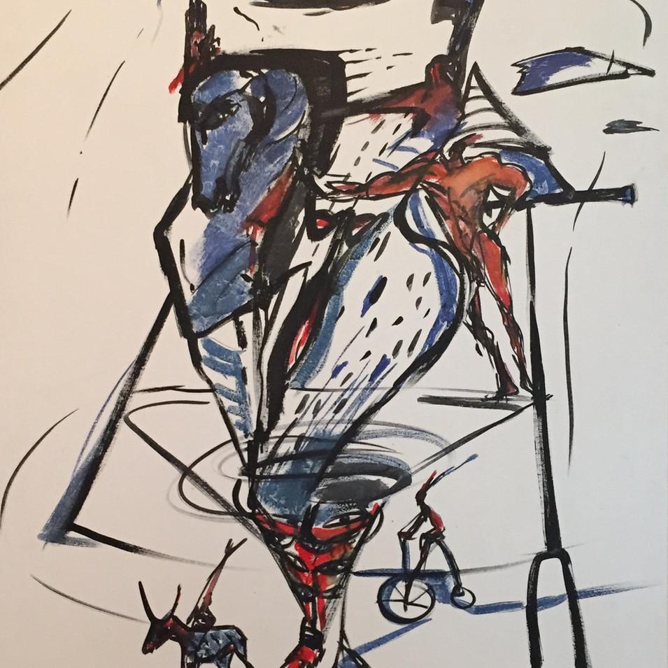 Dagmar Ranft-Schinke   Metamorphose   1994   Acryl auf Leinwand   100 x 70 cm  3 Werke = 7000 Euro