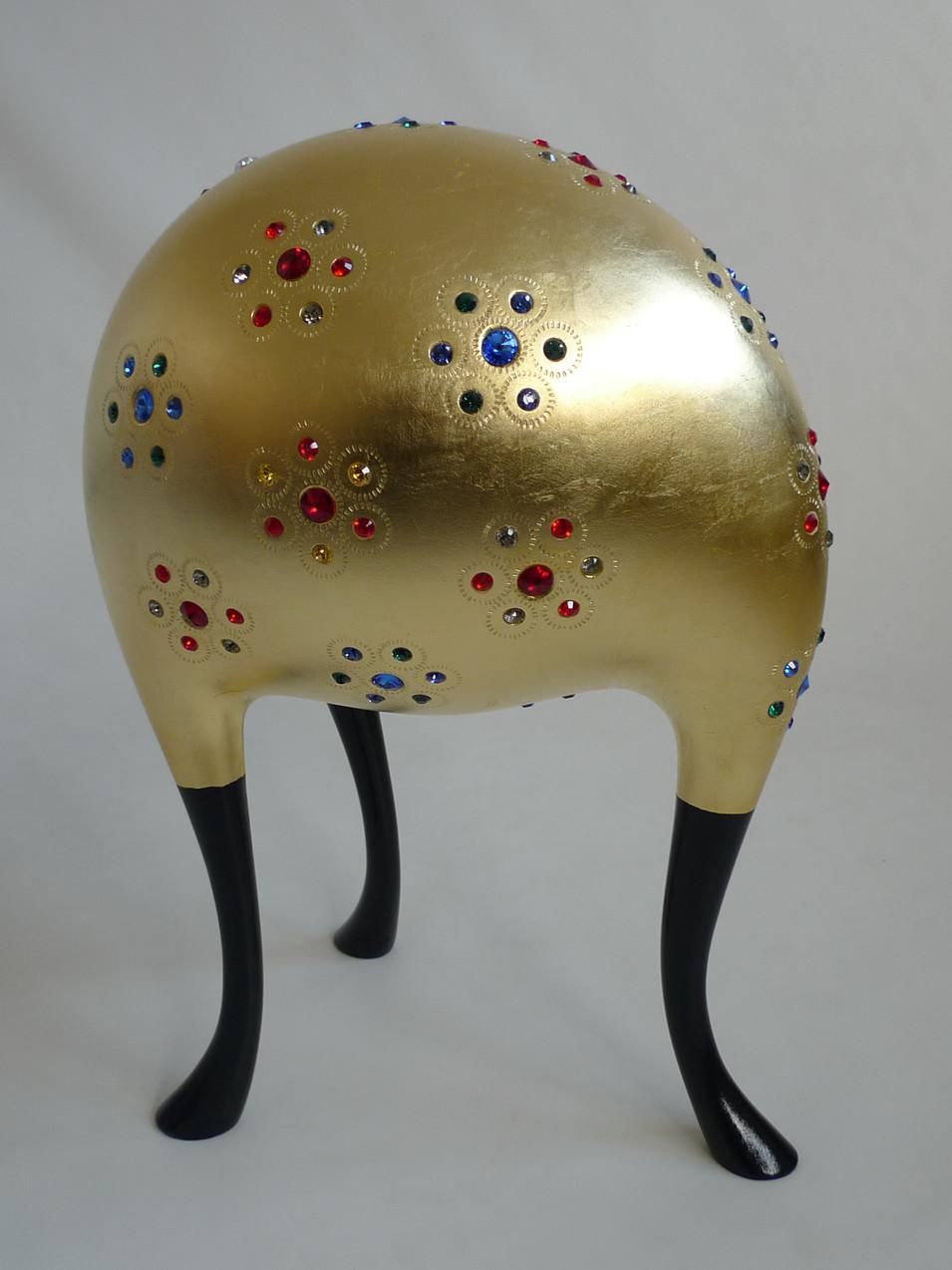 Friedrich Feichter | Abel | 2020 | Linde, Gold, Swarovski | Höhe 52 cm | 5900 Euro