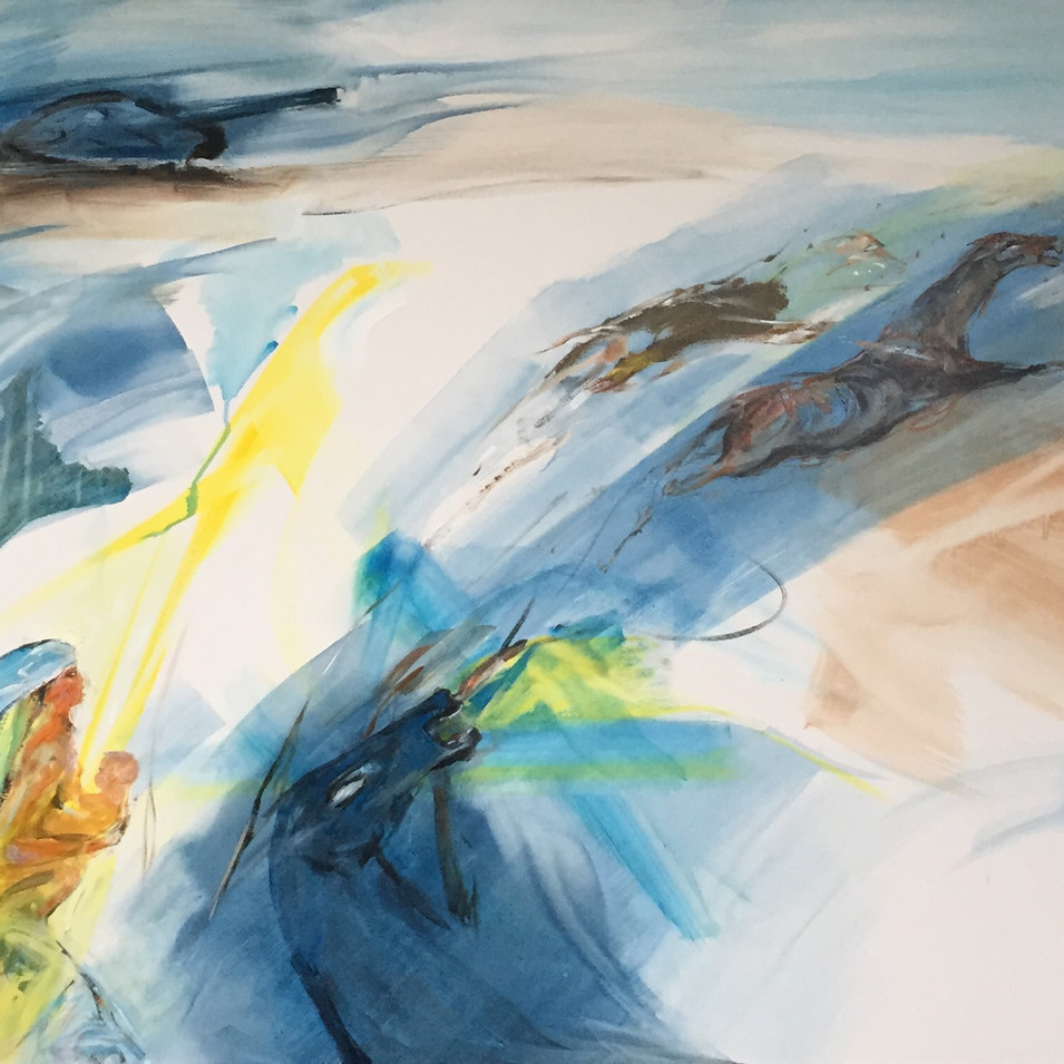 Dagmar Ranft-Schinke   Vita   2014   Acryl auf Leinwand   100 x 160 cm   6500 Euro