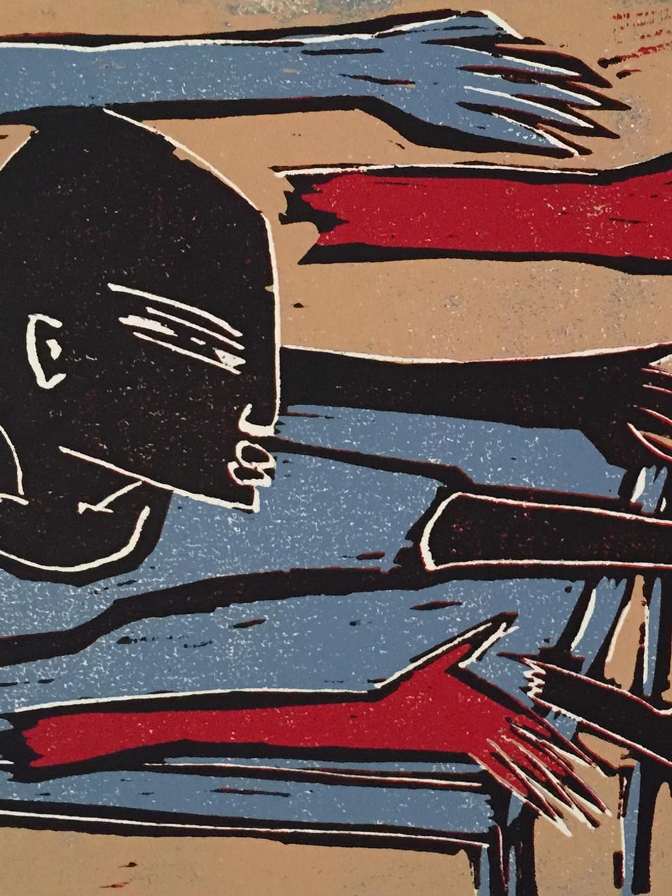 Klaus Süß   Frauenspiel   Mappe Spiel mit mir   2012   Farbholzschnitt   5/6   35 x 50 cm  Mappe komplett 1300 Euro