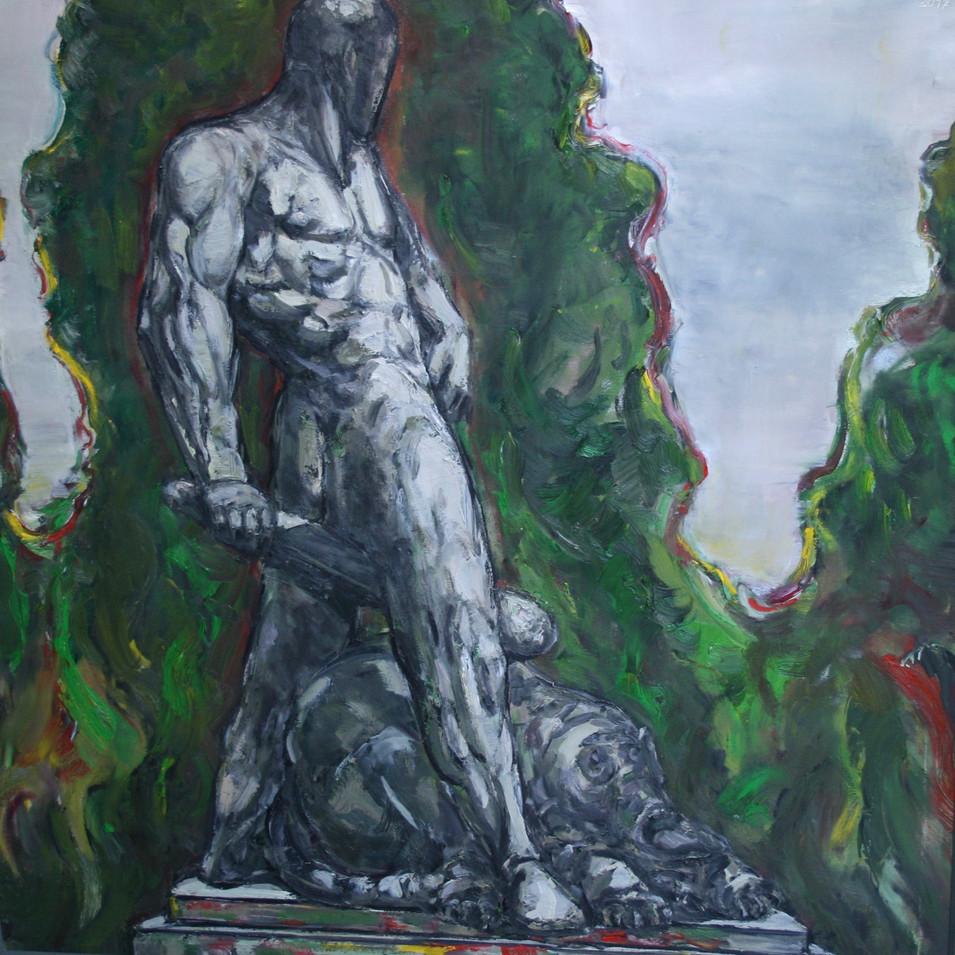 Hubertus Giebe   o.T.   2017   Ölfarbe auf Leinwand   80 x 80 cm   7200 Euro