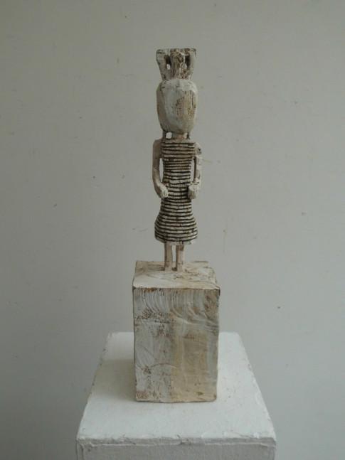 Klaus Hack | Kleidfigur | 2012 | Holz | weiß gefasst | 46 x 11 x 11,3 cm | 1900 Euro